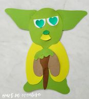 Love Master Yoda Valentine art & craft project for kids