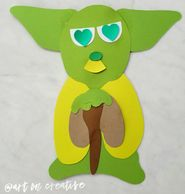 Love Master Yoda Valentine Paper Craft Handmade Holidays Art On Creative Huntington Beach, CA