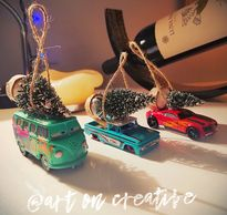 Christmas Tree Cars Handmade Holidays Art On Creative Huntington Beach, CA