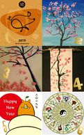 Lunar New Year Scroll Painting Art Project for kids Art On Creative Huntington Beach, CA