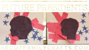 Handmade Holidays Presidents' Day Art On Creative Silhouette President Paper Craft