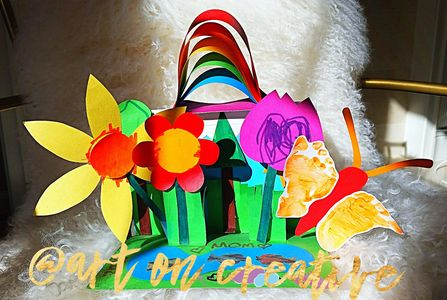 Handmade Holidays Art On Creative Spring Equinox Flowers Rainbow Butterfly 3D Paper Craft