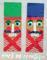 Christmas Nutcrackers Paper Craft for Kids Handmade Holidays Art On Creative Huntington Beach, CA