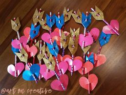 Pencil Arrow Valentine Goodies Craft for Kids Handmade Love Day Art On Creative Huntington Beach, CA