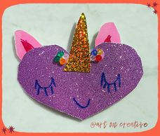 Unicorn Heart Valentine  Art & Craft for kids Handmade Love Day