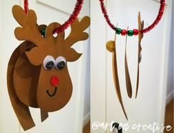 3D Rudolph Handmade Holidays Christmas Art On Creative Huntington Beach, CA