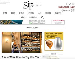 Sip Northwest... Barrels one of seven new wine bars to try this year.  See the link below.