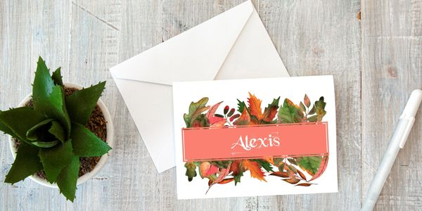 Personalized note card
