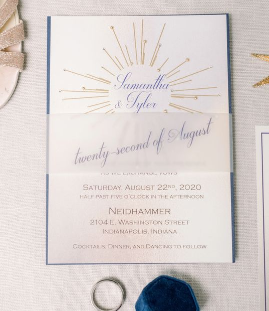 Invitation created for the Day and Night themed photo shoot for Lisa Norris Events.