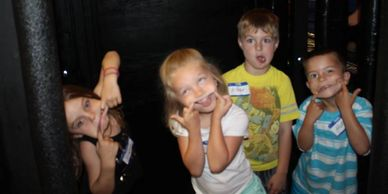 Camp kids being silly