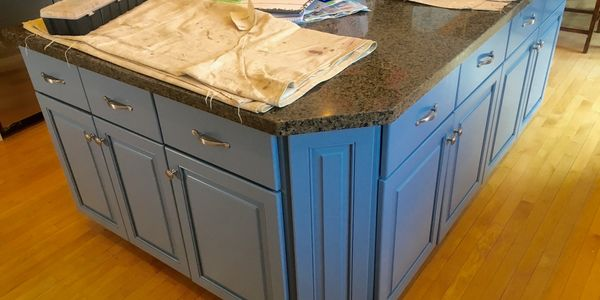 A home that had our cabinet refinishing done