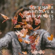 September Holidays and Observances