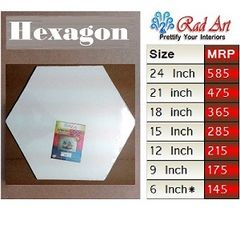 Radart 6 Sided Hexagon Canvas