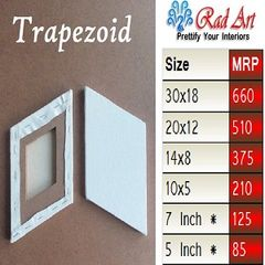 Trapezoid and parallelogram Radart canvas
