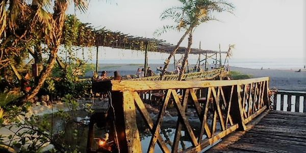 Bali Indonesia travel oceanside restaurant