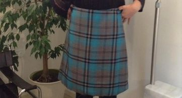 Great little tartan skirt.
