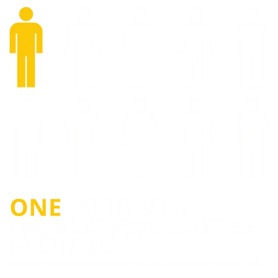 1 in 10 men Suffer from ED