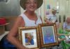 Maggie & Gene Ross donated framed pictures of Carol Kelly