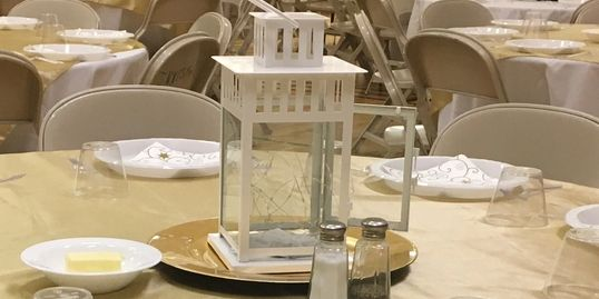 $3.00 each  White Metal lantern. Goes with every theme.  14 available