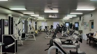 The Fitness Center has lots of workout equipment, weights, treadmills, etc. Come check it out.