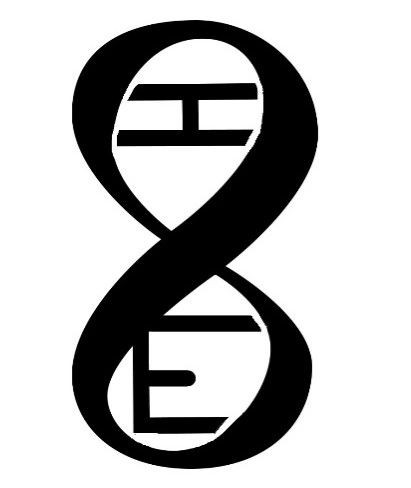 The Infinity Loop in the shape of a DNA pattern with the letters I and E embedded.