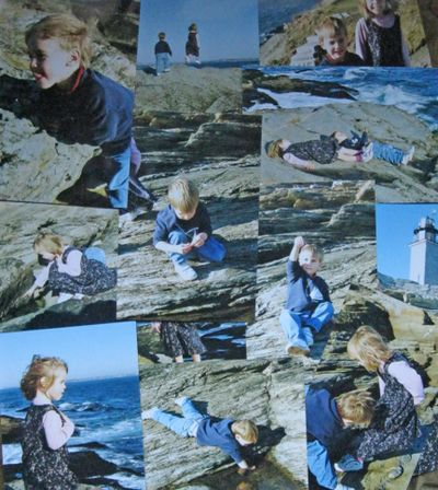 My children exploring the tide pools along the rocky shoreline of Beavertail.