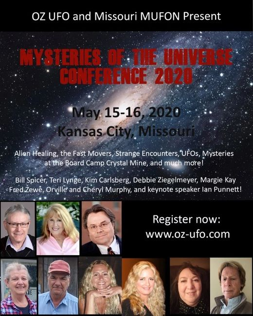 Ad for the Mysteries of the Universe Conference by OZ UFO
