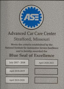ASE Blue Seal of Excellence for four consecutive years.