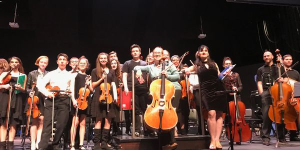 The Tulsa Honors Chamber Orchestra with Karen Naifeh Harmon and Erica Parker.