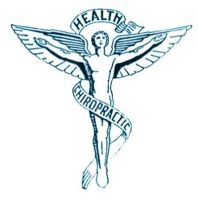 Chiropractic health care symbol.