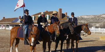 Buffalo Soldier Reenactment at Fort Verde State Park in Camp Verde, Arizona.