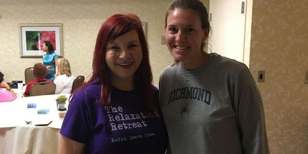 Holly, Founder of The Relaxation Retreat and Army veteran stands with Kathryn, also an Army veteran,