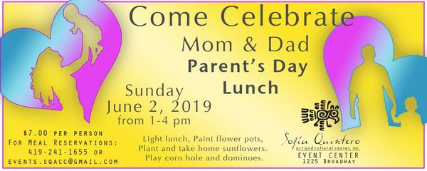 Parents day flyer Sunday 2, 2019 1 to 4 pm $7 per person includes lunch and activites