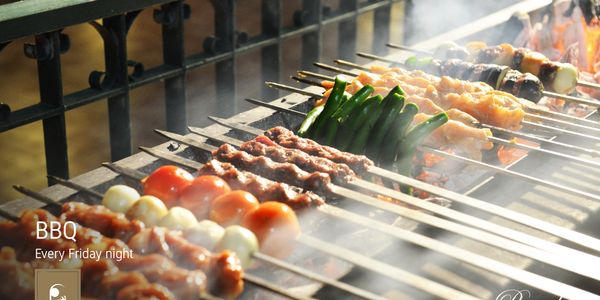 Barbecue night, by the pool, hotel, Friday, rooms, burg on bay hotel, gosawa, makhsoom