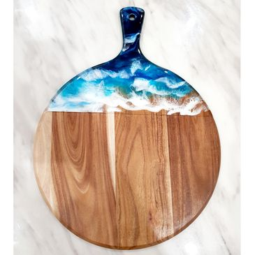 ocean theme cheeseboard, ocean art