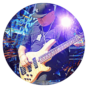 Raul Hernandez bass guitar player from Austin, Texas. Managed by Al Duarte Management Promotions, Go