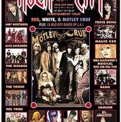 "ROCK CITY NEWS DECLARES RAWK DAWG ""One of THE BAD BOYS BANDS with MOTLEY CRUE.  ROCK CITY NEWS COVER"