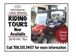 History tours. Proceeds benefit the restauration & maintenance of historical buildings.