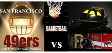 Charity basketball game between Reno Firefighters & San Francisco 49ers