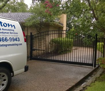 Aluminum Gate install, Painting,concrete work landscaping,pressure washing,premium Handyman Services