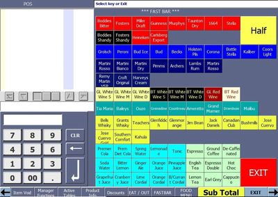 Sharp POS pubs bars clubs epos features