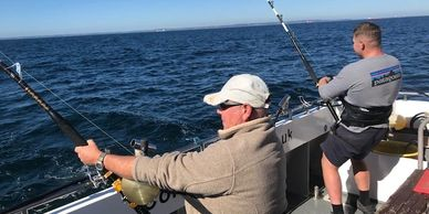 Big Game Catch and Release Tuna at Falmouth Cornwall onboard SEAWATCH with Nigel Hodge from Mylor Ha