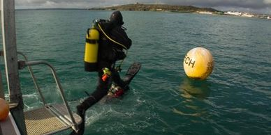 BSAC & PADI Sport diving at Falmouth with Nigel Hodge on SEAWATCH from Mylor Harbour Cornwall