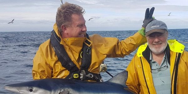 Nigel Hodge onboard seawatch, Cornwall charter boat, fishing trips, commercial media and survey