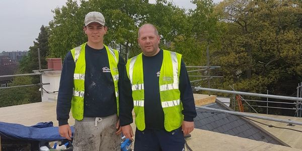 Father and Son carry out roof repair and replacement in Woking and throughout surrey.