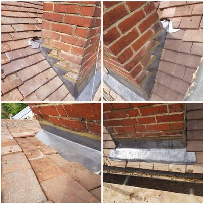 Woking Chimney Repairs come with a insurance backed guarantees. Lead flashing works Woking.