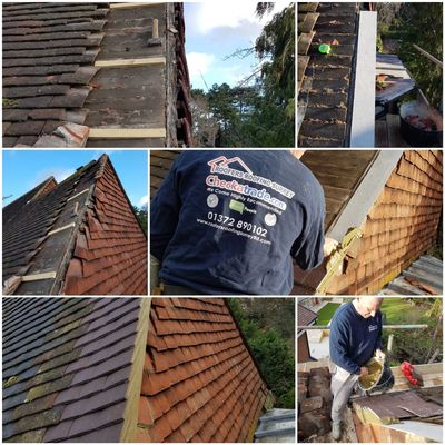 Roof repairs Surbiton, all our roof repairs come with a full written guarantee. Roof repairs KT5 KT6