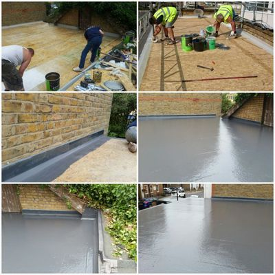 GRP Roofing Woking. New GRP flat roof with a 20 year insurance backed guarantee.