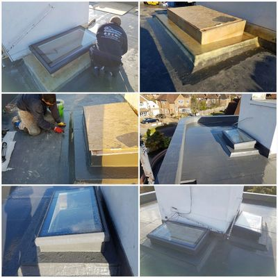 GRP flat  roof repairs surbiton with a 5 year Guarantee.  Flat roof repair Surbiton KT5 KT6