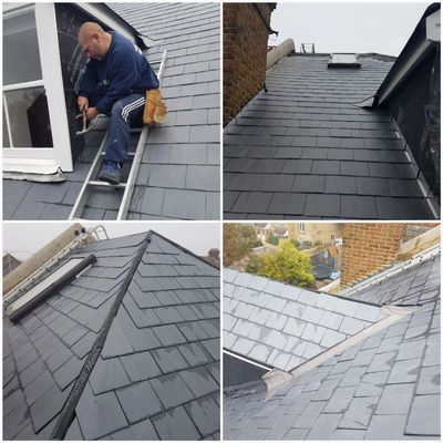 Woking Roofing, new slate roofs in Woking come with a ten year insurance back guarantee.